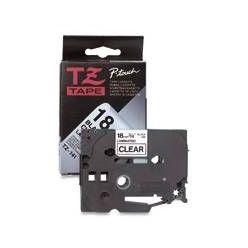 Brother - TZ-S141 průsvitná / černá (18mm,lamin.,extrémně adh.)
