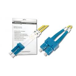 DIGITUS Fiber Optic Patch Cord, LC to SC, Singlemode 09/125 µ, Duplex Length 7m