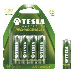 Tesla AA RECHARGEABLE+ nabíjecí Ni-MH, 4 ks