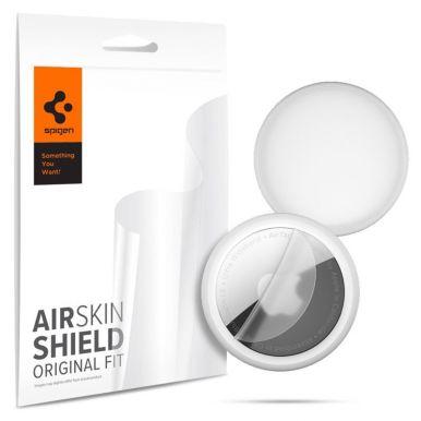 Spigen AirSkin Shield HD 4-Pack, ochranné fólie pro Apple AirTag, transparent