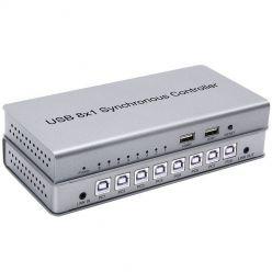 PremiumCord USB 2.0 Přepínač periferií 8:2 s dálkovým ovládáním nebo přepínáním klávesou zkratkou