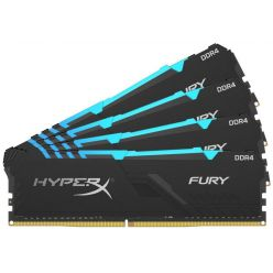 KINGSTON HyperX FURY RGB 4x16GB DDR4 2400MHz / DIMM / CL15 / RGB / černá