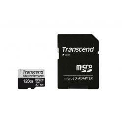 Transcend 340S 128GB microSDXC karta, UHS-I U3 A2 + adaptér
