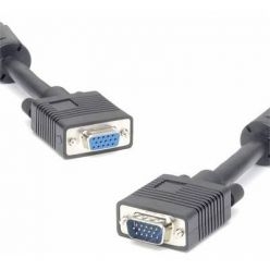PremiumCord Kabel prodlužovací HQ(Coax) 2x ferrit, SVGA, DDC2, 3xCoax+8žil, 15m