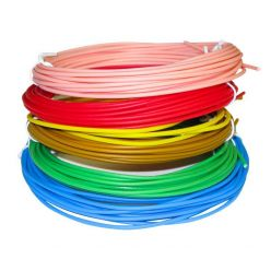 XtendLan nízkoteplotní filament PCL pro 3D pera, 6 barev, každá barva 5m  1,75mm červ/zelená/modr/žlutá/růžová/zlatá