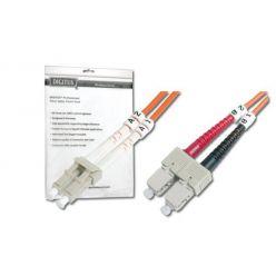 DIGITUS Fiber Optic Patch Cord, LC to SC, Multimode 62.5/125 µ, Duplex Length 1m OM1
