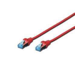 Digitus CAT 5e SF-UTP patch cable, PVC AWG 26/7, length 1 m, color red
