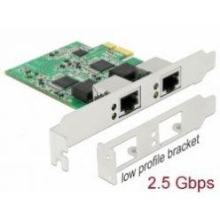 Delock interní 2.5Gigabitová síťová karta, 2x2.5GLAN, PCIe