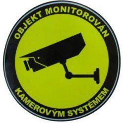 Samolepka - objekt monitorován kamerovým systémem, kulatá 10cm