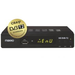 MAXXO Set Top Box DVB-T2 FullHD/ H.265 CRA ověřeno/ HDMI/ SCART/ USB + Wifi dongle