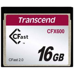 TRANSCEND Industrial Compact Flash Card CFX600 16GB, CFast 2.0, SATA3, MLC