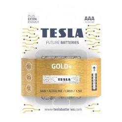 Tesla AAA GOLD+ alkalická, 4 ks, ND