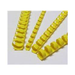 Plastové hřbety 12,5 žluté