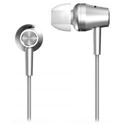 Genius HS-M360, sluchátka do uší s mikrofonem, stříbrná