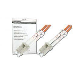 DIGITUS Fiber Optic Patch Cord, LC to LC, Multimode, OM3, 50/125 µ, Duplex Length 2m