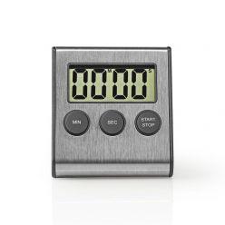 Nedis KATR103SS - Kuchyňský Časovač | Digitální Displej | Nerezový