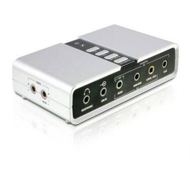 DeLock USB 2.0 Soundbox, 7.1 externí zvuková karta, USB 2.0