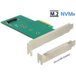 Delock PCIe redukce na 1x internal NVMe M.2 Key M 110mm, LP