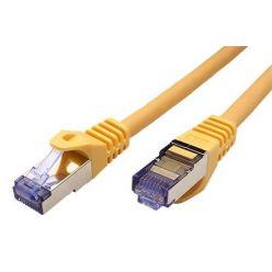 S/FTP patchkabel kat. 6a, Component Level, 0,3m, LSOH, žlutý