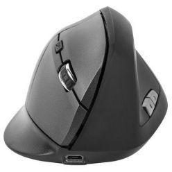 Natec Crake, bezdrátová vertikální myš, 2000dpi, aku, černá