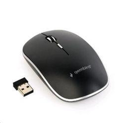 GEMBIRD kompaktní bezdrátová myš, černá, USB nano receiver