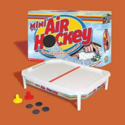 PRIME Scholastic Mini Air Hockey Game and Science Book