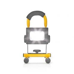 Nedis FLLMB10W - Přenosný reflektor LED | 10 W | 700 lm | Černý/Žlutý