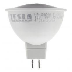 TESLA LED žárovka/ GU5,3/ MR16/ 6W/ 12V/ 470lm/ 4000K/ denní bílá