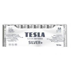 Tesla AA SILVER+ alkalická, 10 ks fólie, ND