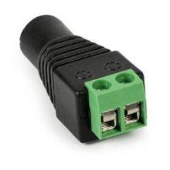 Redukce jack/svorkovnice, FEMALE standard DC 2.1/5.5 konektor napájení (pro CCTV kamery)