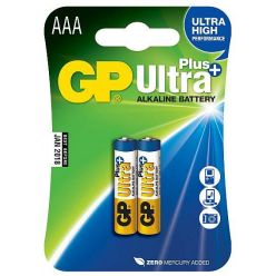 GP Ultra Plus, alkalická AAA baterie, 1.5V, 2ks