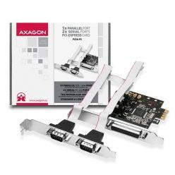AXAGO PCEA-S2 PCI-Express adapter 2x sériový 1x paralelní port + LP