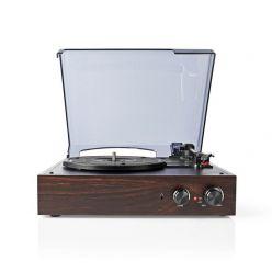 Nedis TURN220BN - Gramofon | 18 W | Počítačový Převod | Kryt Proti Prachu | Hnědý