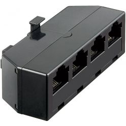 Rozbočka telefonní RJ45 (8P4C) 1xM / 4xF, černá