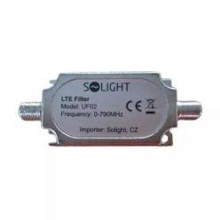 Solight LTE filtr na anténní kabel, 0-790MHz, max. 60. kanál DVB-T, F konektory