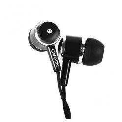 Canyon Stereo sluchátka s mikrofonem do uší, černá