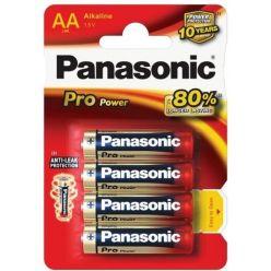 Alkalické baterie AA Panasonic Pro Power LR6 4ks