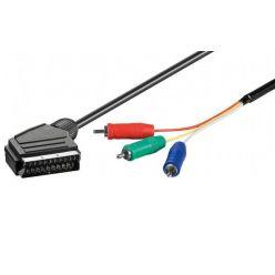 Goobay SCART M (21-pin) > 3x RCA M (YUV/RGB), 1m