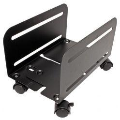 Držák PC, šíře 119 - 209mm, kov, kolečka, černý