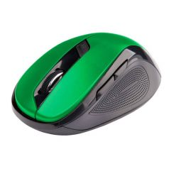 C-TECH myš WLM-02, černo-zelená, bezdrátová, 1600DPI, 6 tlačítek, USB nano receiver