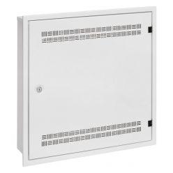 Solarix rozvaděč SOHO LC-18 do zdi s lištami 2U, 4U a 11U, 550x550x150mm, bílá RAL 9003, s rámečkem k zazdění