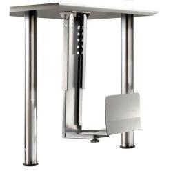 Držák PC pod desku stolu, stříbrný, 30kg