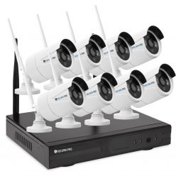Kamerový set Securia Pro WIFI8CHV2-W IP, 2Mpx, 8 kamer, WiFi NVR, bílá