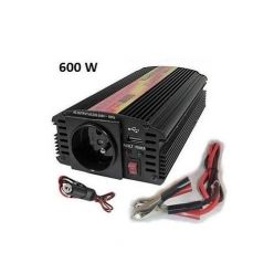 Carspa CAR600U-242 24V/230V+USB 600W