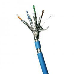 DATACOM F/FTP drát CAT6A  LSOH  100m, modrý