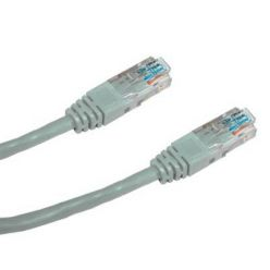 DATACOM Patch cord UTP CAT6 0,5m šedý