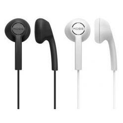 KOSS KE7, dvojbalení sluchátek do uší, černá + bílá