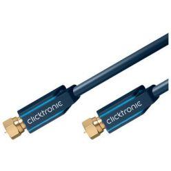ClickTronic satelitní antenní kabel s F konektory, 15m