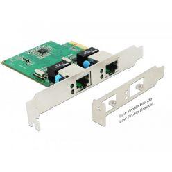 Delock 2-portová gigabitová síťová karta, PCIe, LP