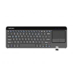 Natec Turbot, bezdrátová klávesnice s touchpadem pro Smart TV, hliníkové tělo
